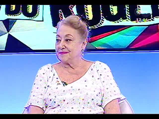 """Programa do Roger - Entrevista com a atriz Suely Franco sobre o espetáculo \""""Seis aulas de dança em seis semanas\"""" - bloco 1 - 31/10/2013"""