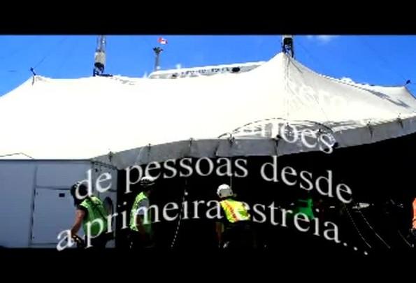 A grande tenda de Corteo já está montada - 28/02/2014