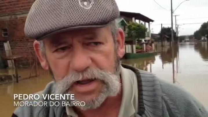 Morador fala sobre a enchente na cidade de Montenegro