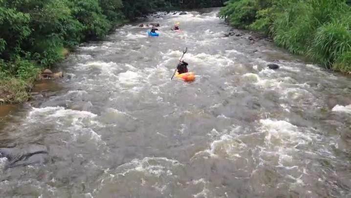 Veja como foi o treino dos participantes da Copa Brasil de Canoagem Descida em Schroeder