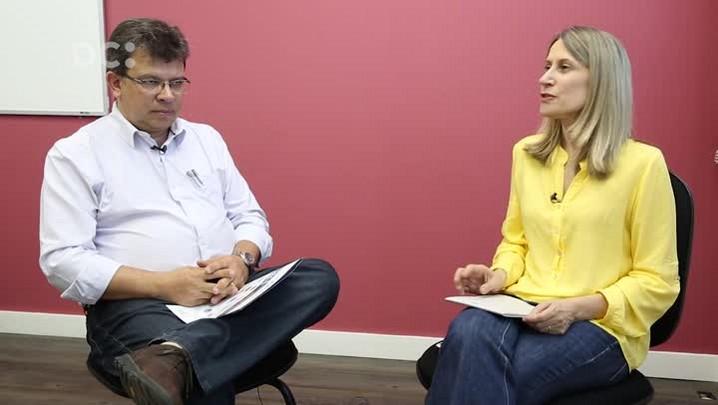 Estela Benetti entrevista o superintendente geral na fundação CERTI, José Eduardo Fiates