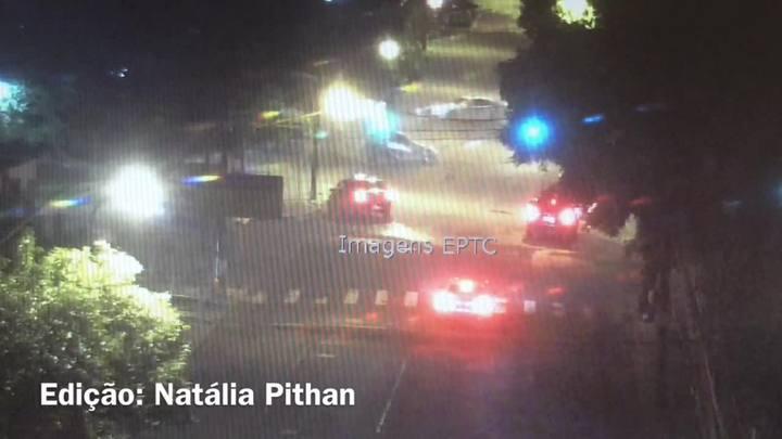 Câmeras mostram racha que terminou em atropelamento no Parcão