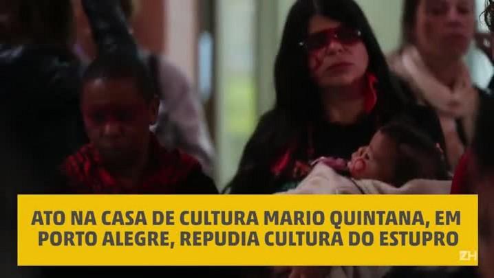 Ato condena a cultura do estupro e o machismo em Porto Alegre