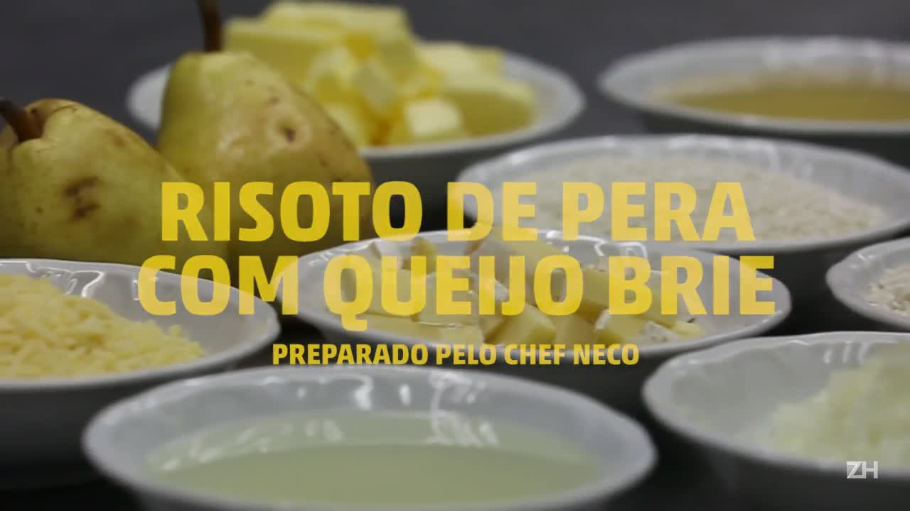 Como Fazer Risoto com pera e queijo brie