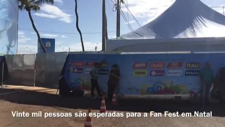 Cerca de 20 mil pessoas por dia são esperadas na Fan Fest em Natal. 12/06/2014