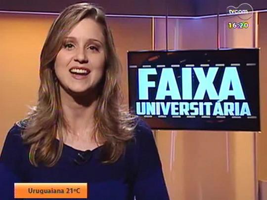 Faixa Universitária - Alunos da Unijuí mostram uma competição de esportes rurais no telejornal \'Cafundó\', sobre a vida no campo