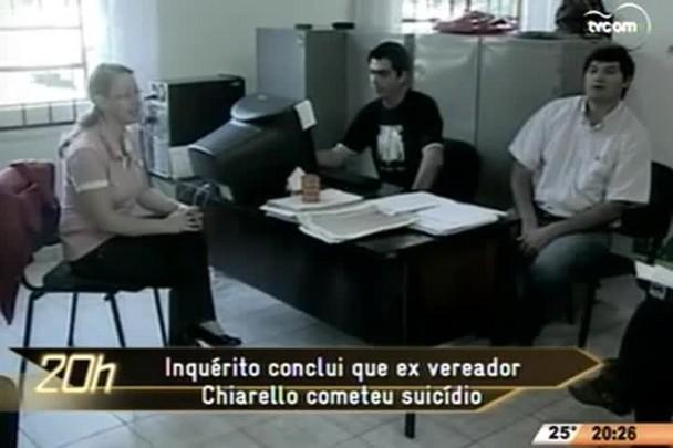TVCOM 20 Horas - Inquérito conclui que ex vereador Chiarello cometeu suicídio - 09.06.15