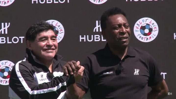 Pelé e Maradona se enfrentam em Paris