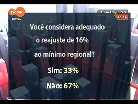 Conversas Cruzadas - O projeto de reajuste de 16% no salário mínimo regional - Bloco 4 - 11/11/2014