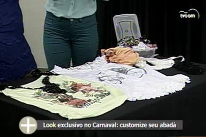 TVCOM Tudo+ - Como usar rendas, aplicações e paetês para personalizar o abadá no Carnaval - 5.2.15