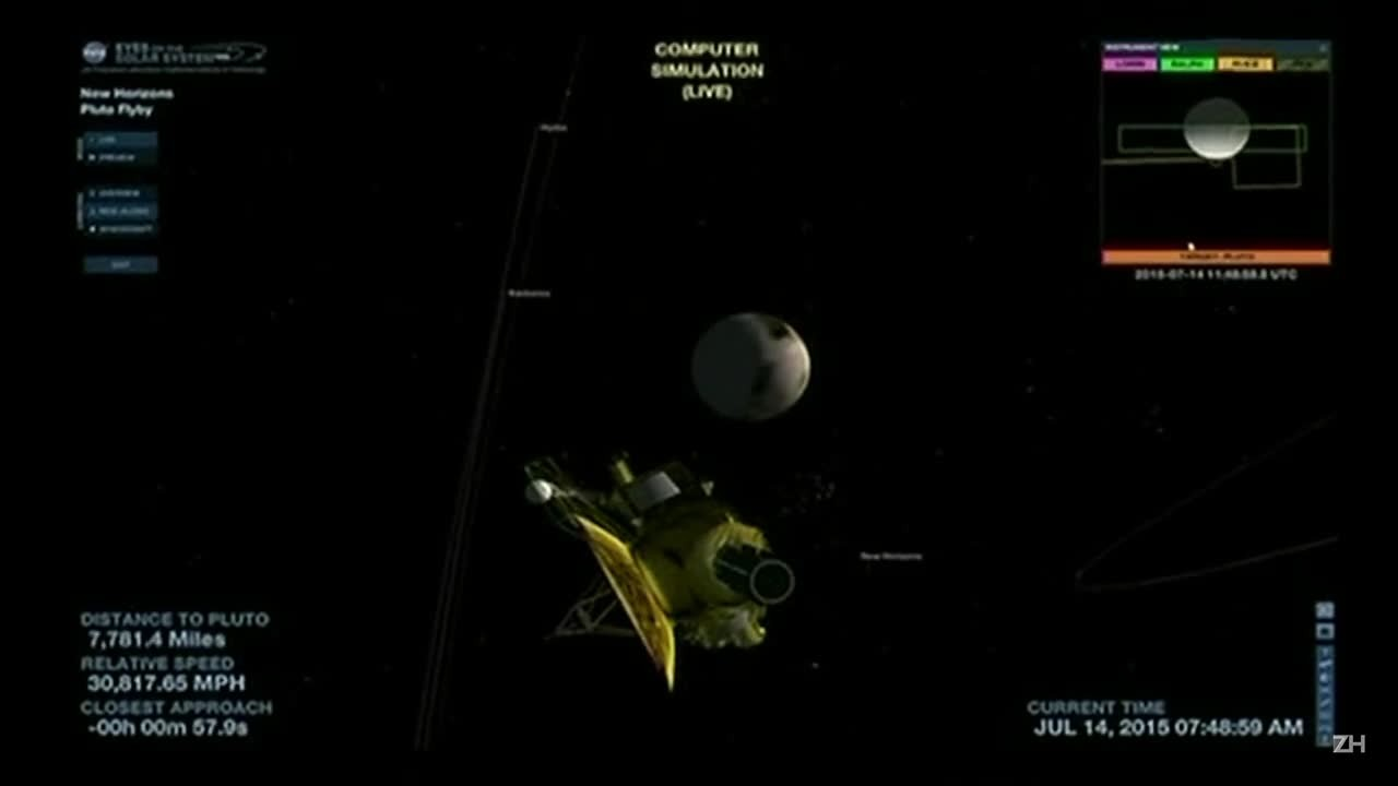 Sonda New Horizons alcança a maior aproximação de Plutão