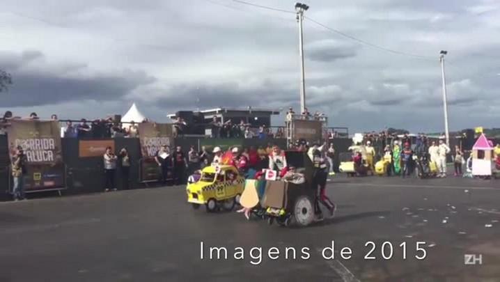 Cadeiras de rodas viram carrinhos em Corrida Maluca neste sábado