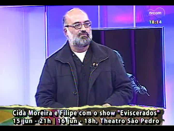 Programa do Roger - Músicos Cida Moreira e Filipe Catto falam sobre show Eviscerados - bloco 3 - 10/06/2013
