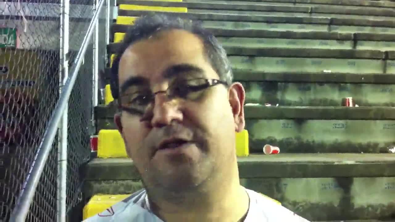 Torcedor colorado fala após a derrota para o Cruzeiro - 29/09/2013