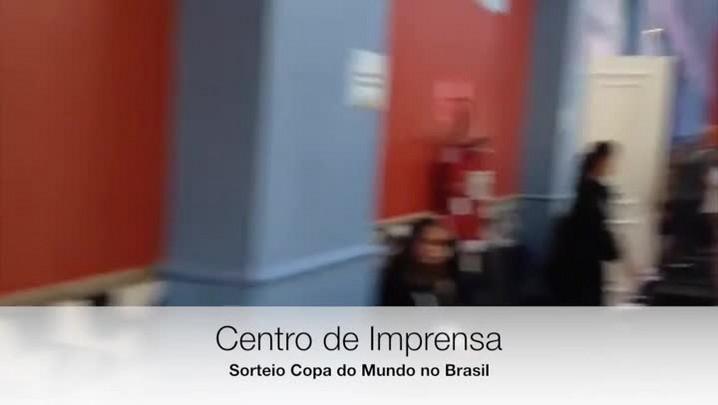 Conheça o Grande Centro de Imprensa do Sorteio da Copa do Mundo na Costa do Sauipe - 05/12/2013