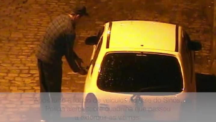 Imagens flagram ação de quadrilha que roubava veículos e extorquia vítimas no Vale do Sinos