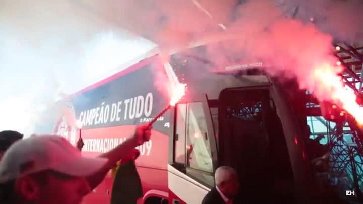 Inter embarca com apoio da torcida