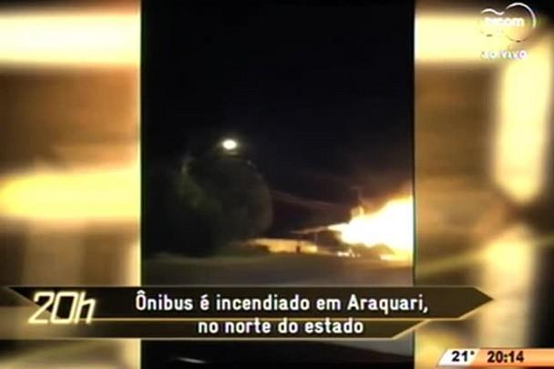 TVCOM 20 Horas - Ônibus é incendiado em Araquari no norte do estado - 17.06.15