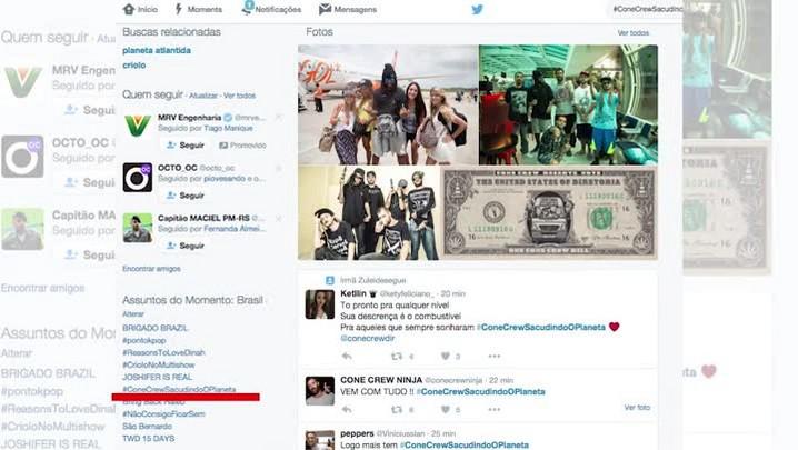 Nos trending topics, ConeCrew agradece com rima
