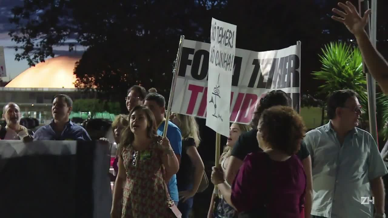 Protesto contra Temer no Planalto
