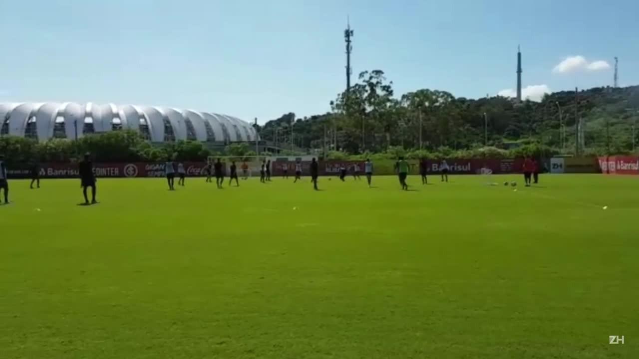 Treino do Inter mantém mistério para estreia do Gauchão