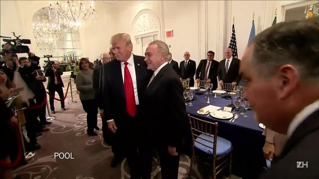 Trump e Temer discutem situação na Venezuela