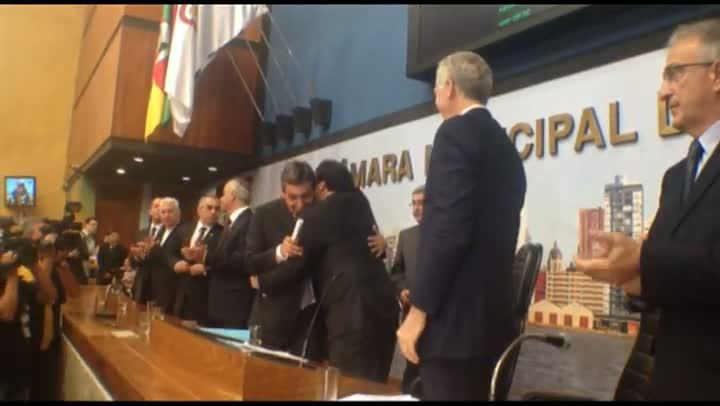 José Fortunati (PDT) toma posse como prefeito na Câmara dos Vereadores