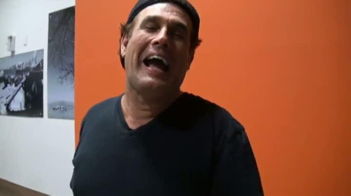 Bastidores com o humorista Sérgio Mallandro