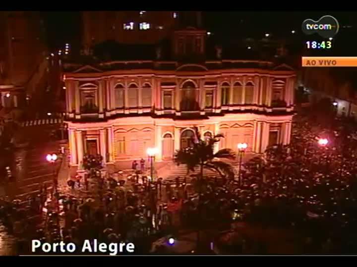 Cobertura especial das manifestações em Porto Alegre - Entrevista com Maurício Saraiva - 20/06/2013