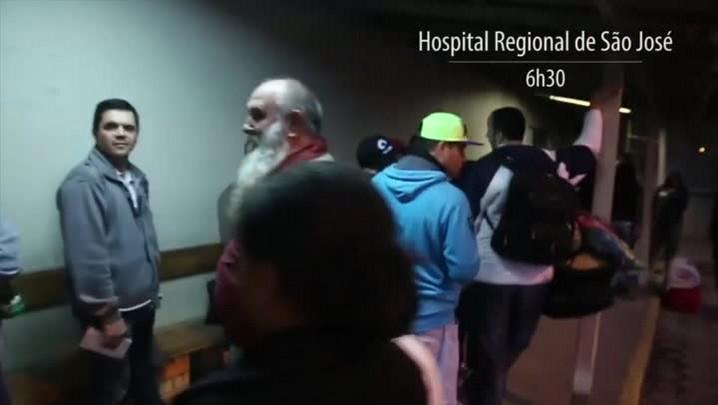 População espera mais de 25 horas na fila para marcar consultas no Hospital Regional de São José