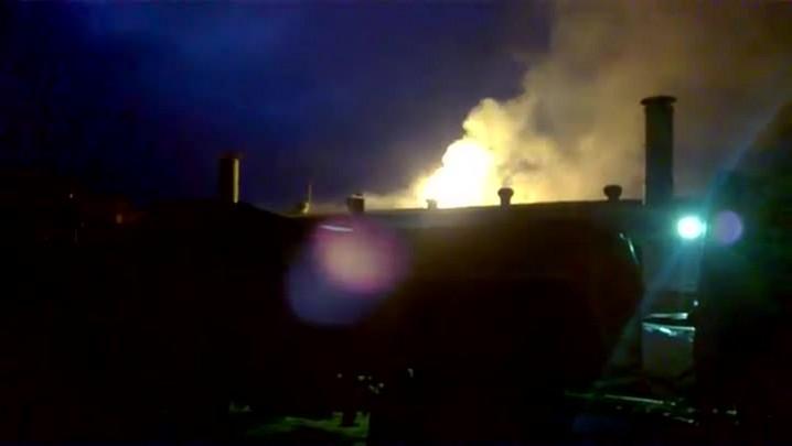 Incêndio em curtume de Nova Esperança do Sul