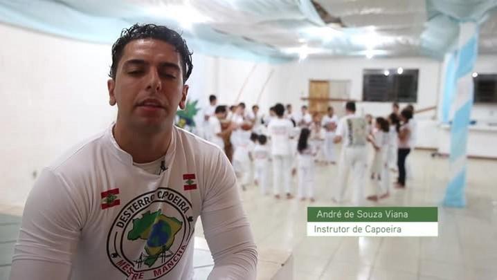 Conheça André de Souza Viana, instrutor de capoeira, do bairro Monte Verde em Florianópolis