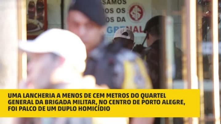 Dois homens são mortos com pelo menos 50 tiros no centro da Capital