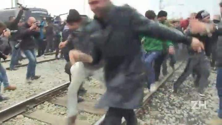 Tensão na fronteira greco-macedônia