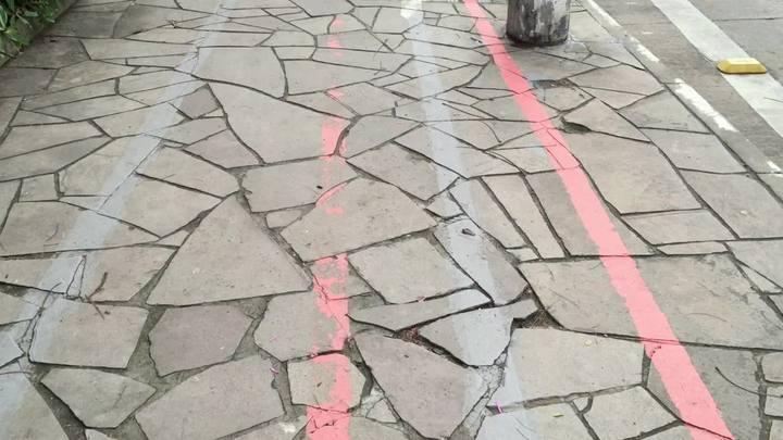 Ciclofaixas da Erico Verissimo apresentam desgaste meses depois de ser pintada