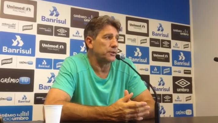 Renato pede atenção ao Grêmio para sequência de jogos