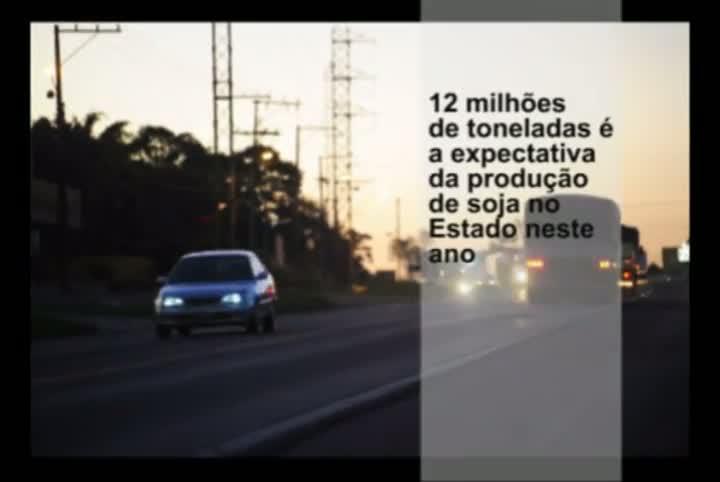 Escoamento da safra de soja aumenta movimento nas estradas