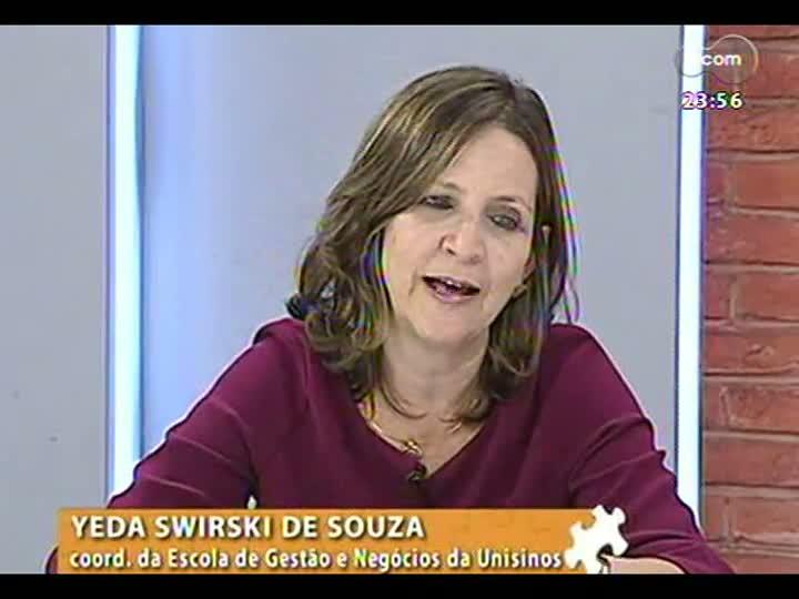 Mãos e Mentes - Coordenadora da Escola de Gestão e Negócios da Unisinos, Yeda Swirski de Souza - Bloco 3 - 20/05/2013