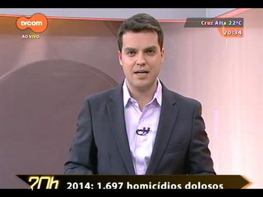 TVCOM 20 Horas - Número de homicídios dolosos cresce quase 20% este ano no estado - 05/10/2014