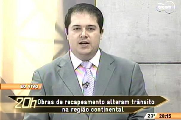 TVCOM 20h - Obras de recapeamento alteram trânsito no continente - 6.11.14