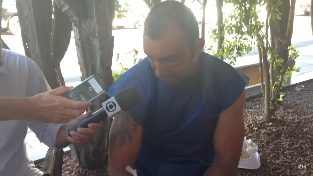 Flavio Rodrigo da Rosa Lopes conta como foi o acidente em Maquiné