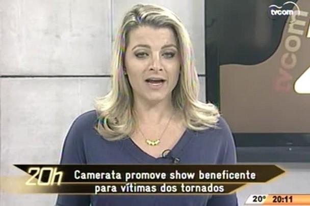 TVCOM 20 Horas - Camerata promove show beneficente para vítimas dos tornados - 23.04.15