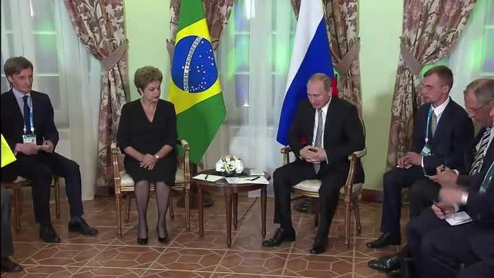 Dilma se encontra com Putin na Rússia