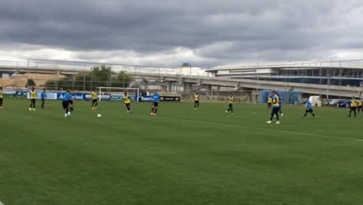 Reservas do Grêmio fazem coletivo