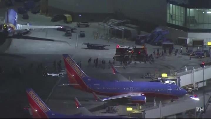 Pânico no aeroporto de LA