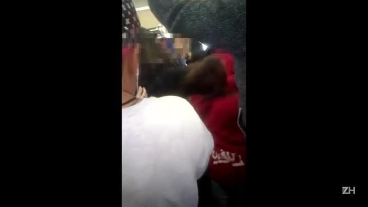 Passageira registra confusão envolvendo torcedores no trensurb