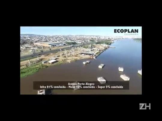 DNIT divulga vídeo que mostra o andamento das obras da nova ponte do Guaíba