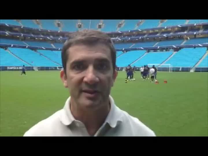 Grêmio treina na Arena de olho no Fluminense. 08/04/2013