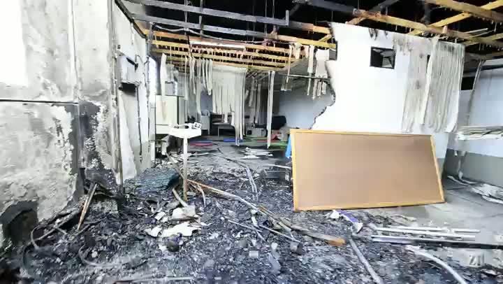 Veja como ficou o interior da escola incendiada em Eldorado do Sul