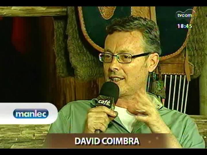 Café TVCOM - Apresentadores recebem os escritores Alcy Cheuíche e Tabajara Ruas para um bate-papo no Acampamento Farroupilha - Bloco 4 - 14/09/2013